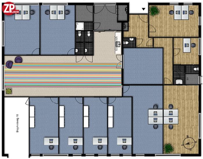 ZPlaza Wormer - kantoorruimtes, praktijkruimtes en flexpwerklekken